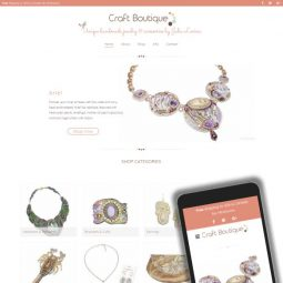 Craft Boutique Canada (Surrey, BC) Project: Web Design, Development, Graphic Design, Technical Support