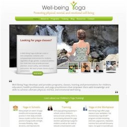 Well-being Yoga (Mississauga, ON) Project: Web Design, Development, Technical Support